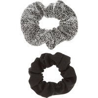 Claire's Sweater Grey & Black Scrunchies - 2 Pack - Sweater Gifts
