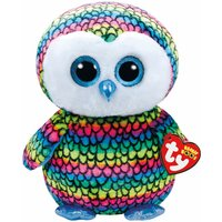 Claire's Ty Beanie Boo Large Aria The Rainbow Owl Soft Toy - Beanie Gifts