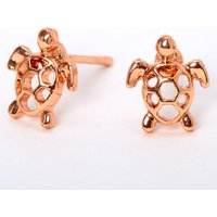 Claire's 18Kt Rose Gold Plated Turtle Stud Earrings - Jewellery Gifts