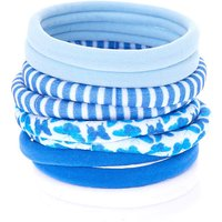 Claire's Blue Butterfly Print Hair Ties - 10 Pack - Ties Gifts