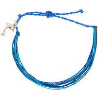 Claire's Dolphin Thread Adjustable Bracelet - Blue - Dolphin Gifts