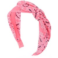 Claire's Paisley Bandana Headband - Neon Pink - Claires Gifts
