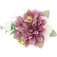 Claire's Butterfly Bridal Flower Clip - Lilac - Lilac Gifts