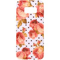 Claire's Floral Polka Dot Phone Case - Fits Samsung Galaxy S8 - Polka Dot Gifts