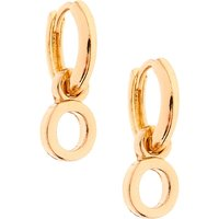 Claire's Gold 10MM Initial Huggie Hoop Earrings - O - Jewellery Gifts