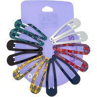 Claire's Plaid Snap Hair Clips - 12 Pack - Hair Gifts