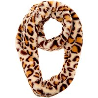 Claire's Faux Fur Leopard Print Infinity Scarf - Brown - Leopard Print Gifts