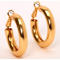 Claire's Gold 30MM Tube Hoop Earrings - Jewellery Gifts
