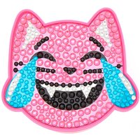Claire's Emoji Bling Laughing Cat Lip Gloss Pot - Pink - Bling Gifts
