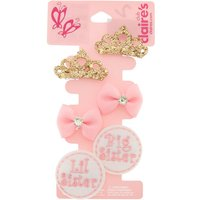 Claire's Kids 6 Piece Sister Hair Clip Set - Sister Gifts