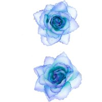Claire's Glitter Flower Hair Clips - 2 Pack, Blue - Flower Gifts