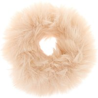 Claire's Faux Fur Hair Scrunchie - Ivory - Ivory Gifts