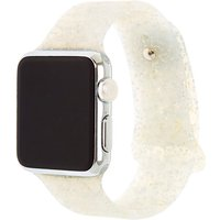 Claire's Silver Glitter Silicone Smart Watch Band - Fits 38MM/40MM Apple Watch - Smart Gifts