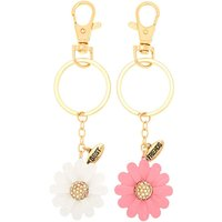 Claire's Best Friends Daisy Keychains - 2 Pack - Keyrings Gifts