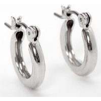Claire's Silver 10MM Tube Hoop Earrings - Jewellery Gifts