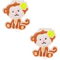 Claire's Monkey Business Clip On Earrings - Brown - Business Gifts