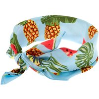 Claire's Summer Fruit Scarf Headwrap - Blue - Scarf Gifts
