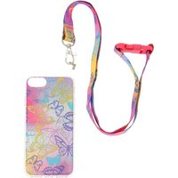 Claire's Butterfly Glitter Phone With Lanyard - Phone Gifts