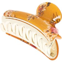 Claire's Floral Hair Claw - Mustard - Hair Gifts