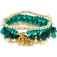 Claire's Desert Bead Stretch Bracelets - Turquoise, 4 Pack - Turquoise Gifts