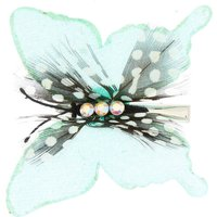 Claire's Dotted Glitter Butterfly Hair Clip - Mint - Hair Gifts