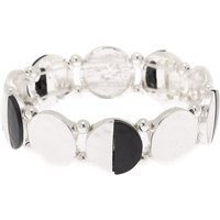 Claire's Silver Half Moon Stretch Bracelet - Fashion Gifts