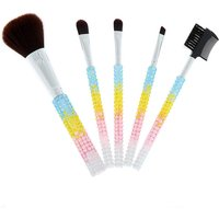Claire's Pastel Bling Makeup Brush Set - Rainbow, 5 Pack - Bling Gifts