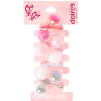 Claire's Club Plastic Double Ball Hair Ties - 4 Pack - Ties Gifts