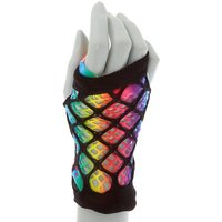 Claire's Rainbow Fishnet Arm Warmers - Rainbow Gifts