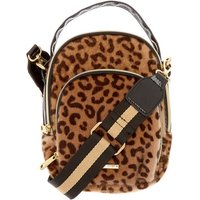 Claire's Faux Fur Leopard Messenger Crossbody Bag - Bag Gifts