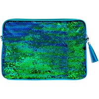 Claire's Turquoise Reverse Sequin Laptop Sleeve - Laptop Gifts