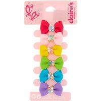 Claire's Claire's Club Rainbow Hair Bow Clips - 6 Pack - Hair Gifts