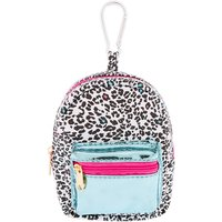Claire's Leopard Love Mini Backpack Keychain - Rainbow Gifts