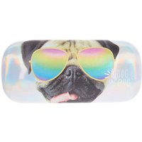 Claire's Doug The Pug™ Holographic Sunglasses Case - Silver - Fashion Gifts