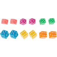 Claire's Neon Dice Stud Earrings - 6 Pack - Dice Gifts