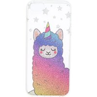 Claire's Glitter Llamacorn Phone Case - Rainbow - Phone Gifts