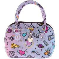 Claire's Unicorn Pwr Crossbody Bag - Purple - Bag Gifts
