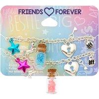 Claire's Confetti Bottle Chain Friendship Bracelets - 2 Pack - Friendship Gifts