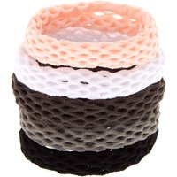 Claire's Fishnet Rolled Hair Ties - 5 Pack - Ties Gifts