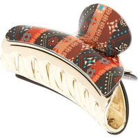 Claire's Boho Aztec Striped Hair Claw - Black - Hair Gifts