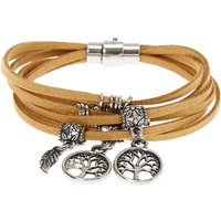 Claire's Silver Tree Of Life Wrap Bracelet - Brown - Life Gifts