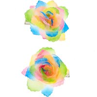 Claire's Rainbow Ombre Flower Hair Clips - 2 Pack - Hair Gifts