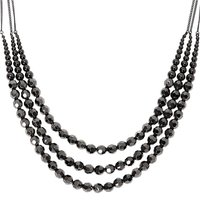 Claire's Hematite Mixed Bead Multi Strand Necklace - Fashion Gifts