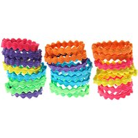 Claire's Club Rainbow Wave Hair Ties - 24 Pack - Ties Gifts