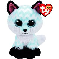 Claire's Ty Beanie Boo Medium Piper The Chevron Fox Soft Toy - Beanie Gifts
