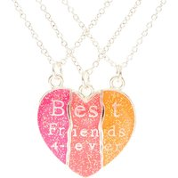 Claire's Neon Heart Best Friend Forever Necklace Set - Friend Gifts
