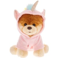 Claire's Boo The World's Cutest Dog™ Large Unicorn Boo Soft Toy – Pink - Soft Gifts