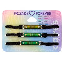 Claire's Mood Plate Adjustable Friendship Bracelets - 3 Pack - Friendship Gifts