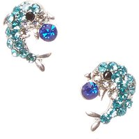 Claire's Blue Dolphin Rhinestone Stud Earrings - Dolphin Gifts