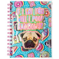 Claire's Doug The Pug Sweet Treats Notebook- Green - Sweet Gifts